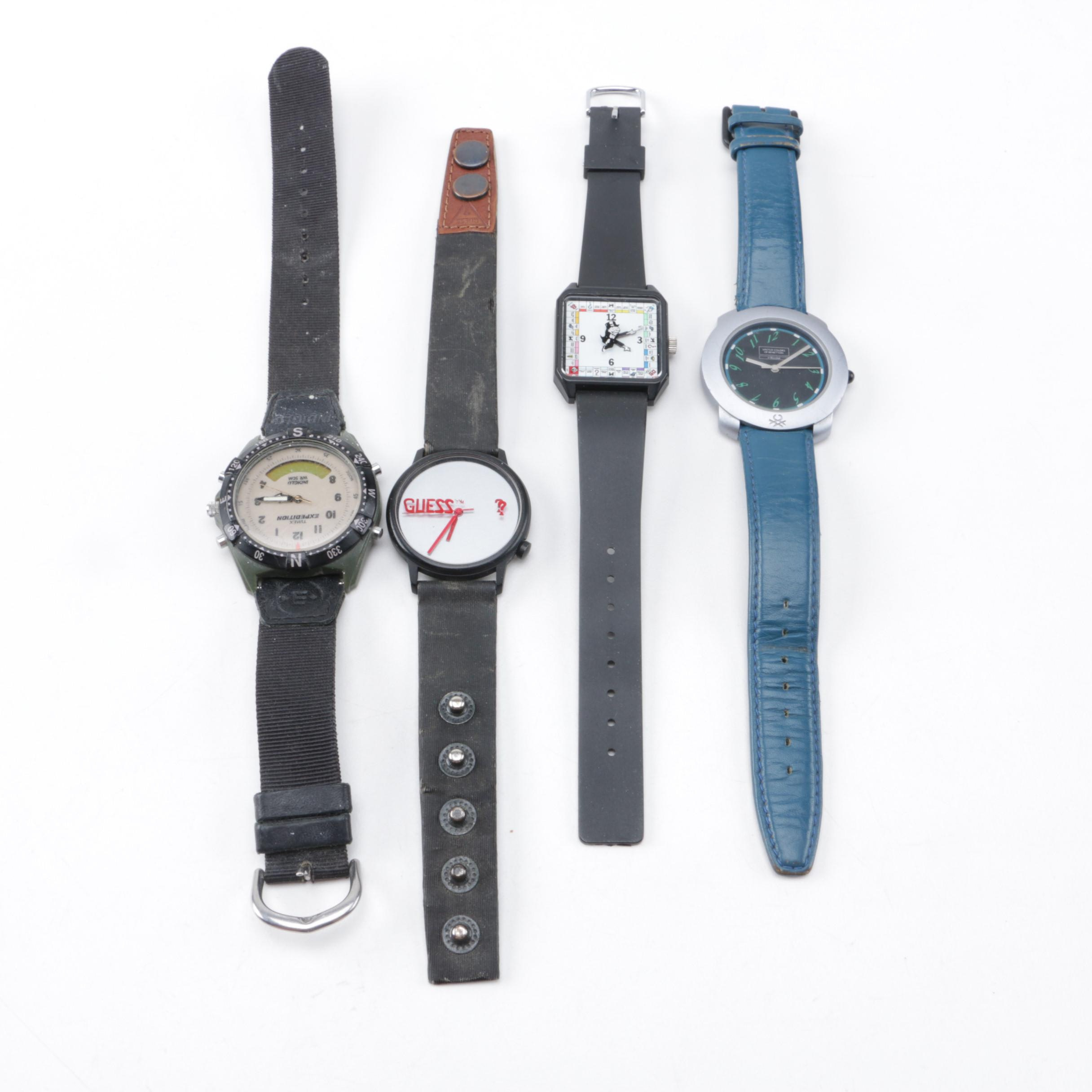 Grouping of Four Wristwatches