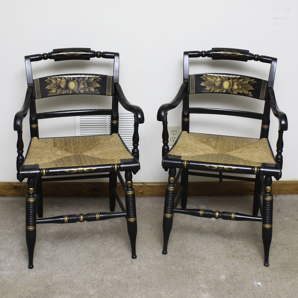 Pair Of Vintage Armchairs By L. Hitchcock ...