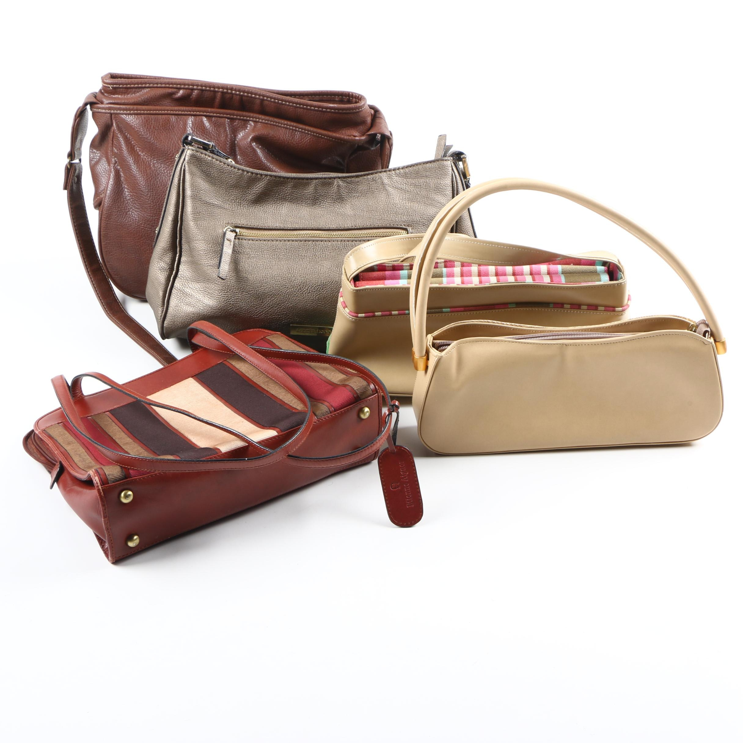 Collection of Brown Leather Handbags