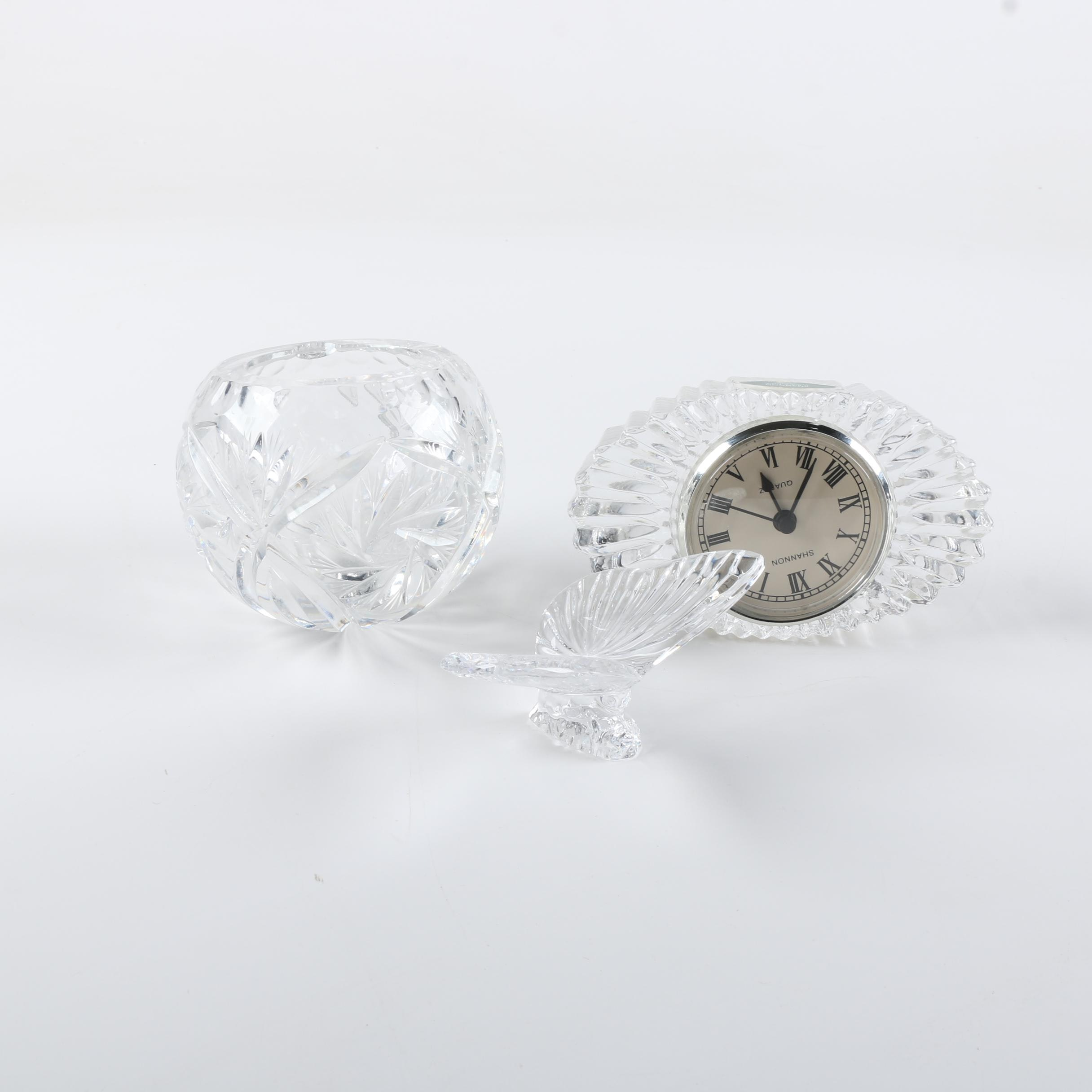 Crystal Decor Featuring Shannon Clock