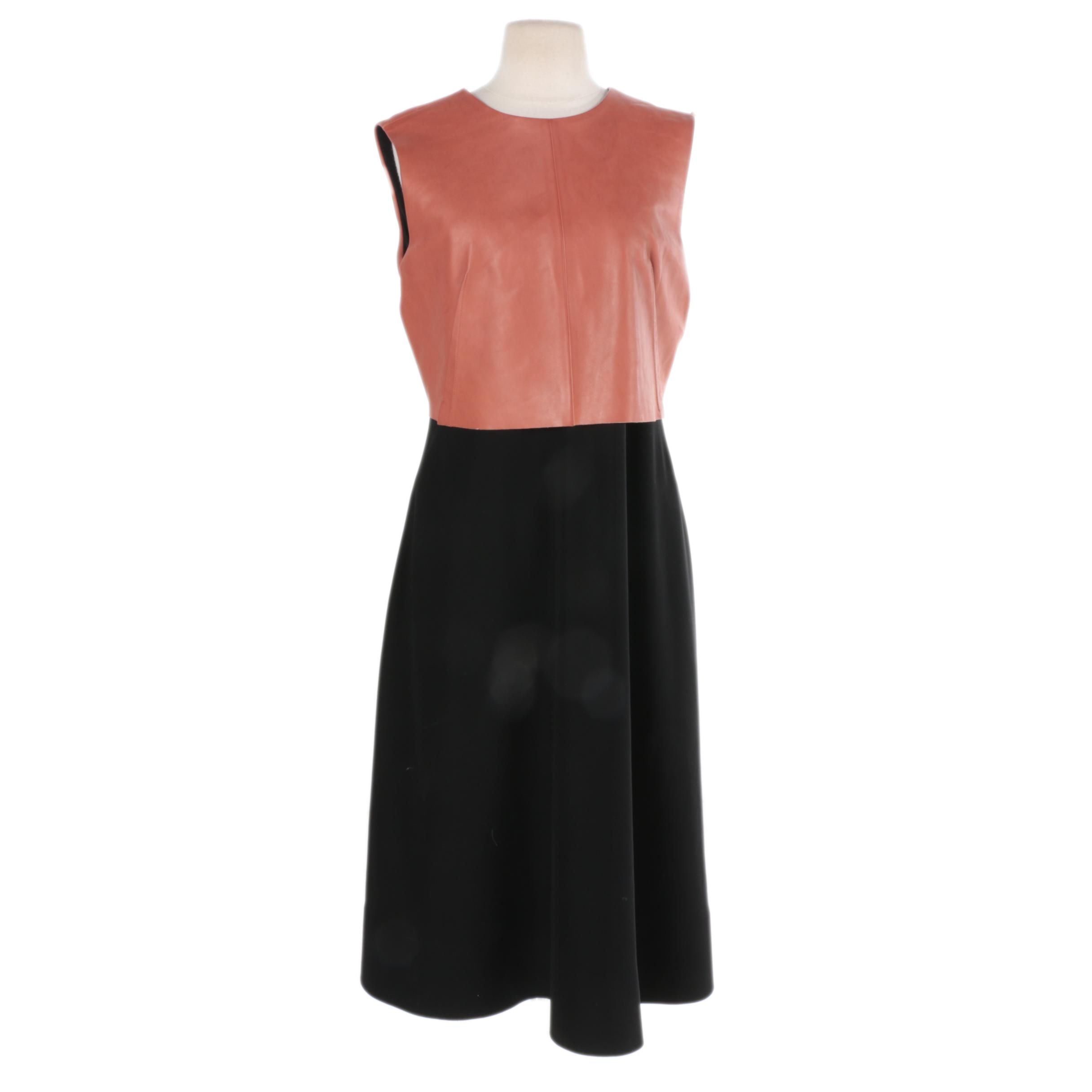 Sport Max Leather Bodice Dress
