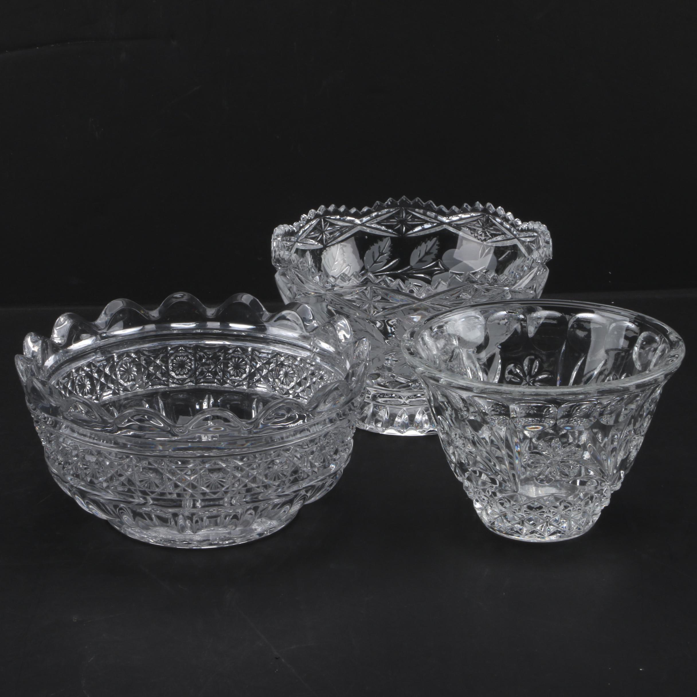 Vintage Crystal Bowls