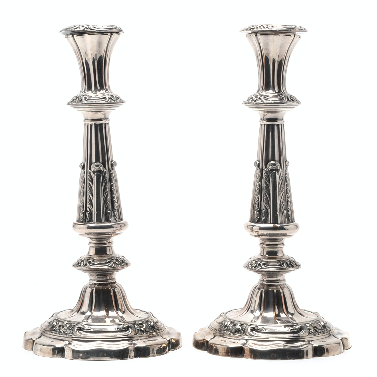Pair of Vintage Silver Plate Candlestick