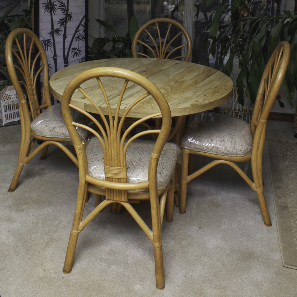 Bentwood Dining Table and Chairs