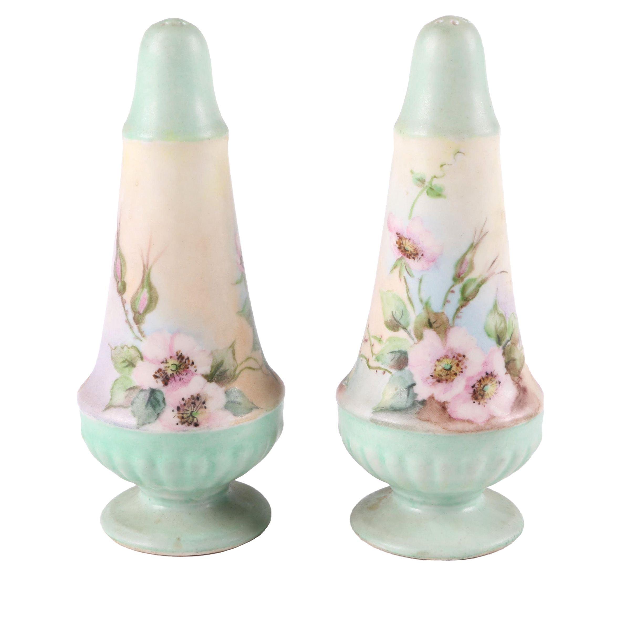 Pastel Floral Motif Ceramic Casters