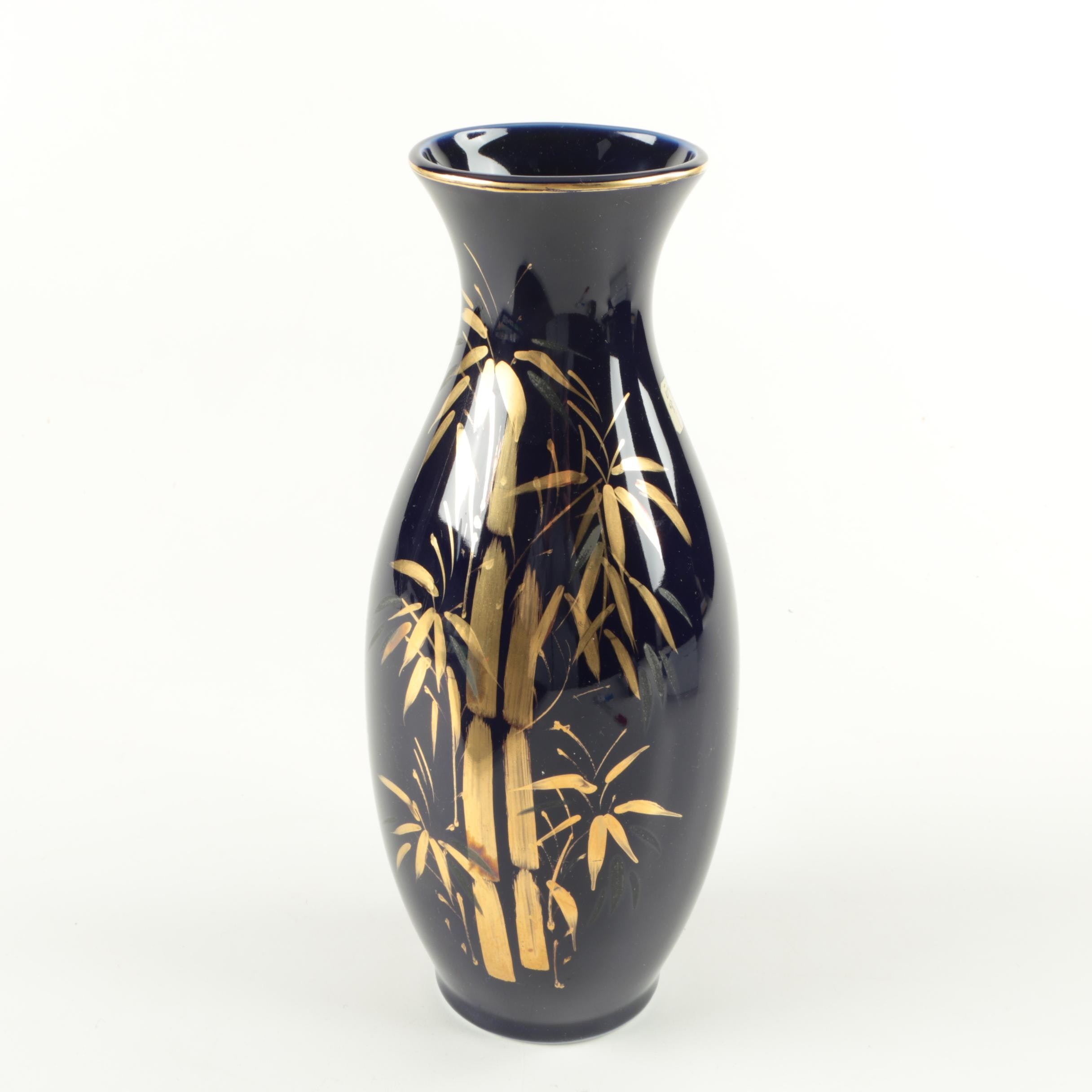 East Asian Glass Vase