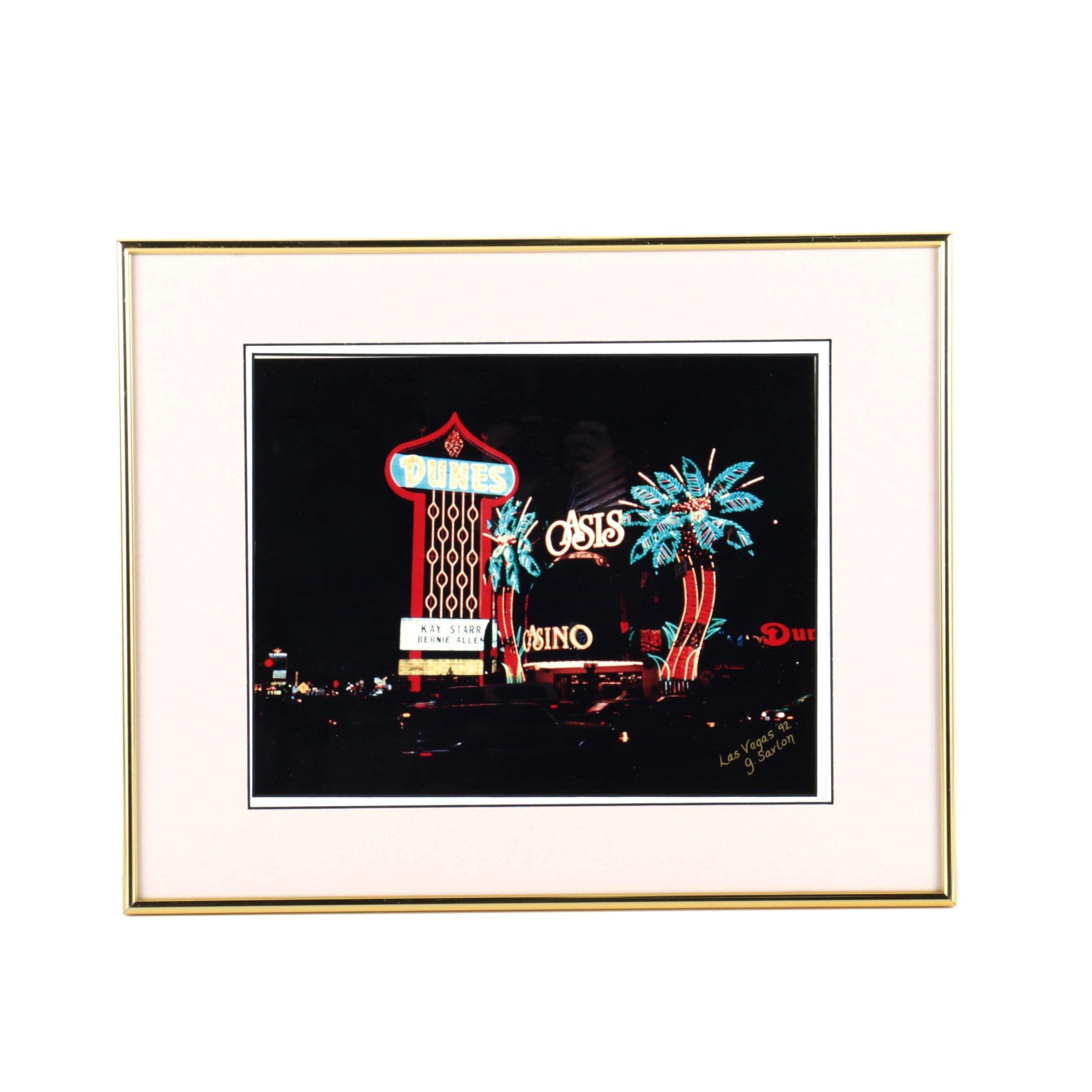 "G. Sarlon Color Photograph ""Las Vegas"""
