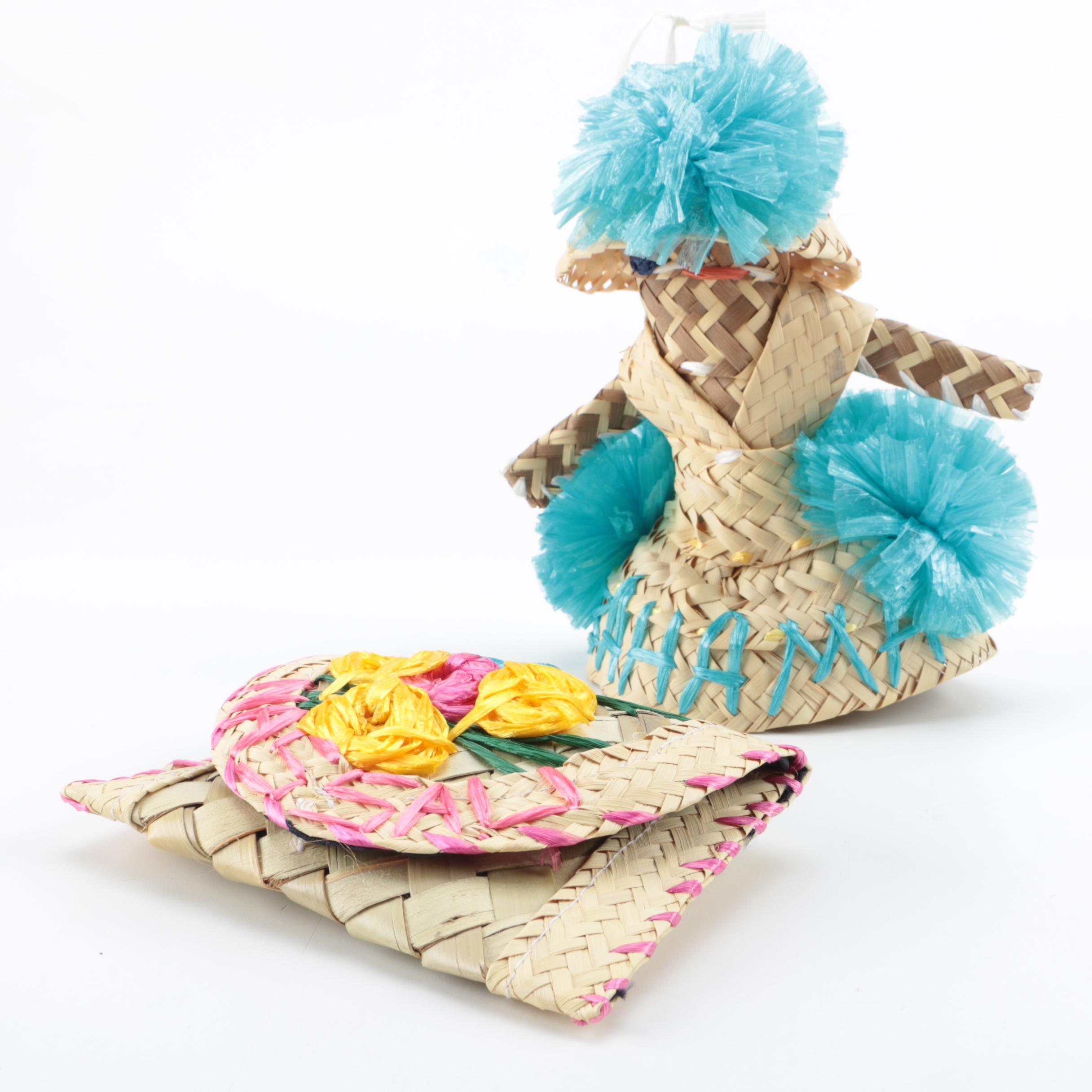 Bahamian Hand Woven Souvenir Doll and Wallet