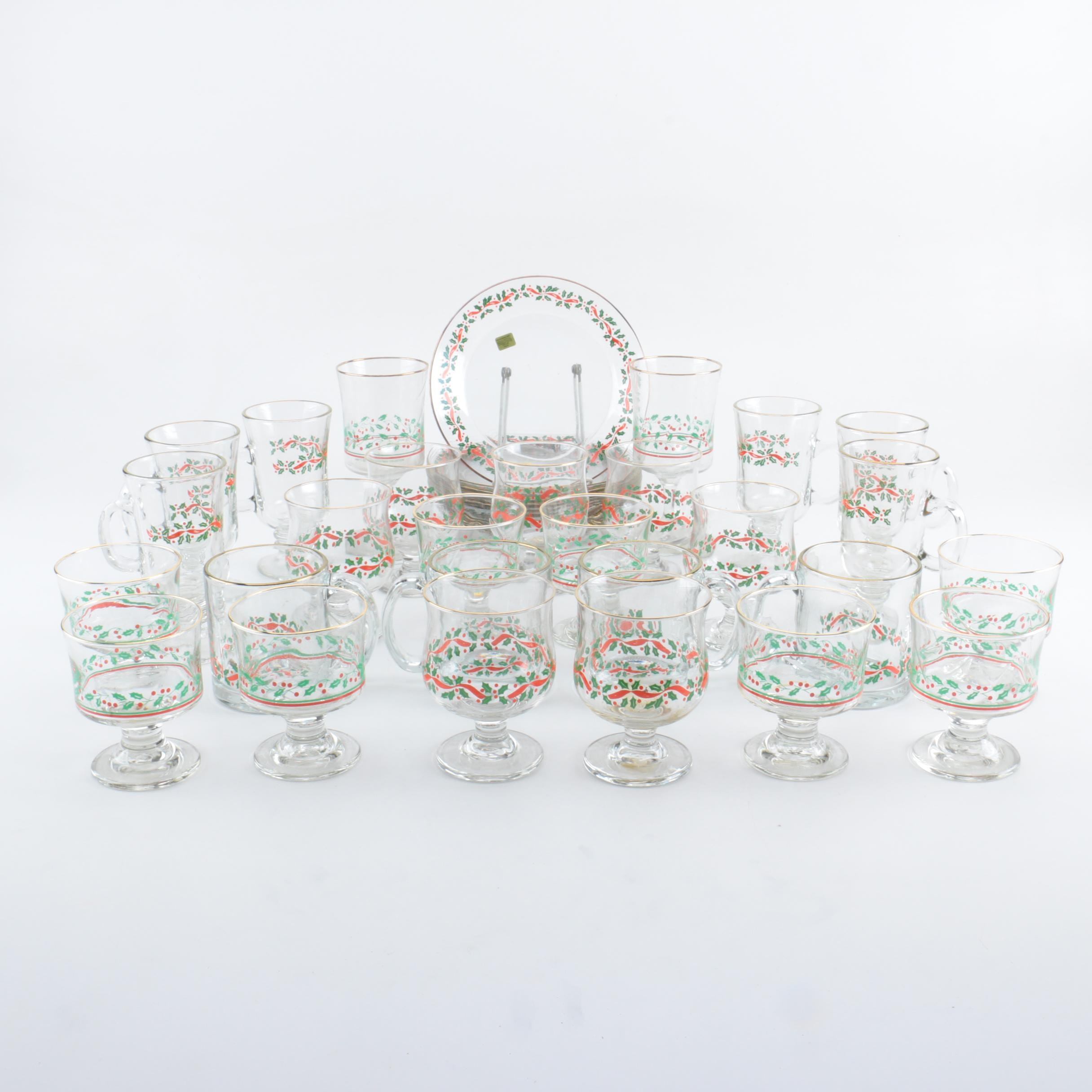 Arby's 1987 Christmas Collection Glass Tableware