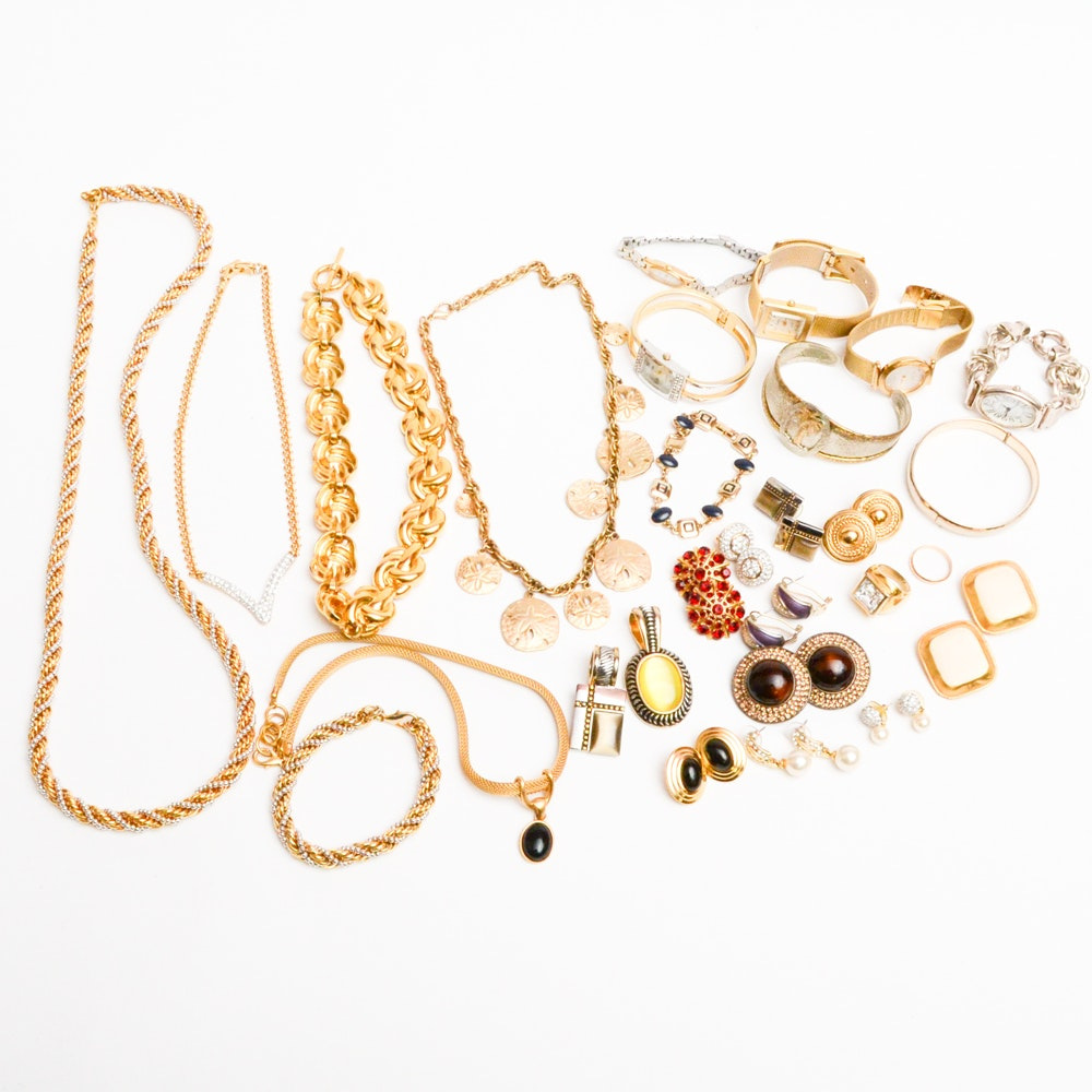 Costume Jewelry Collection With Gemstones Featuring Swarovski