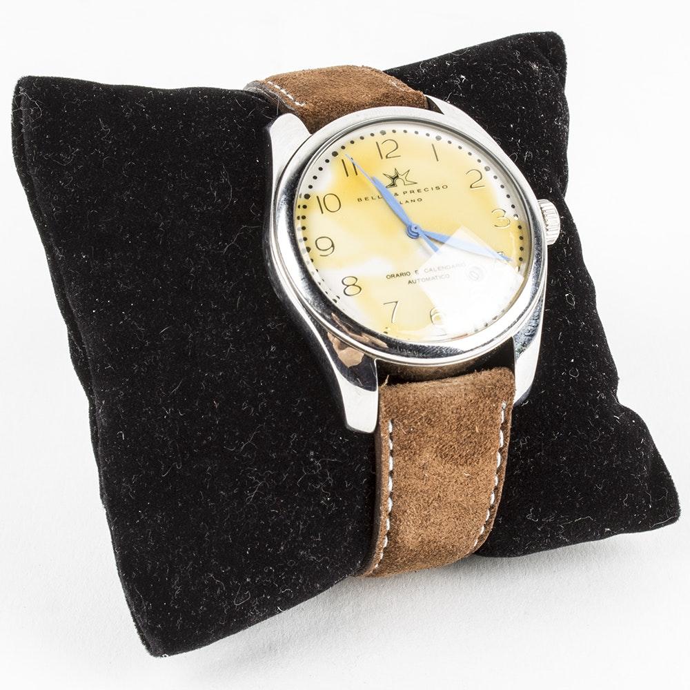 Bello & Preciso Watch with Camoscio Leather Bracelet