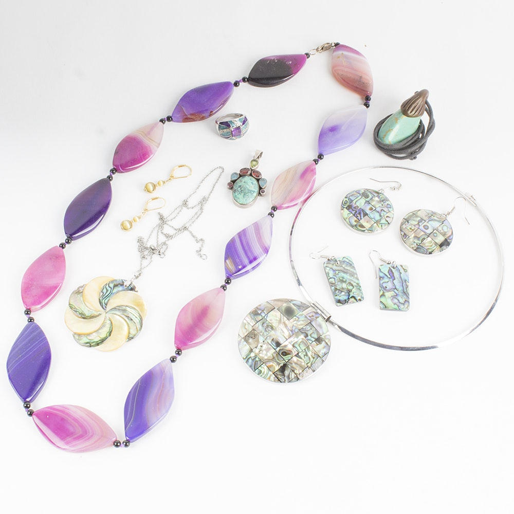 Stone and Shell Inspired Costume Jewelry Collection