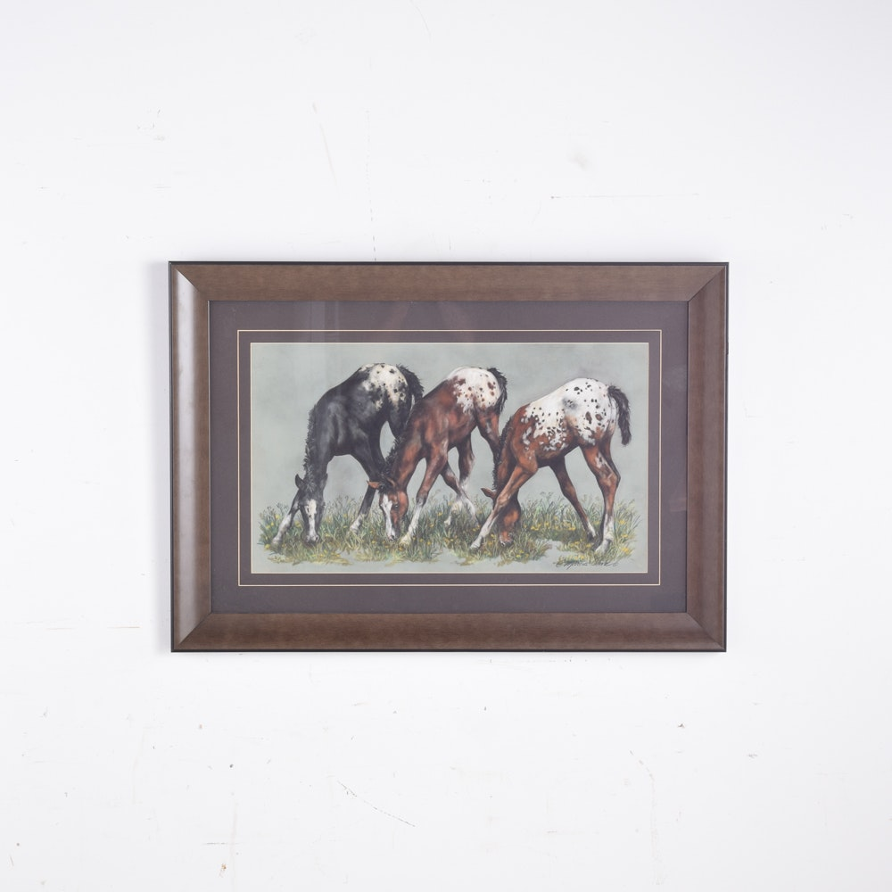 "Giclee on Paper After C. Marcus Stone ""Appaloosa Ballet"""