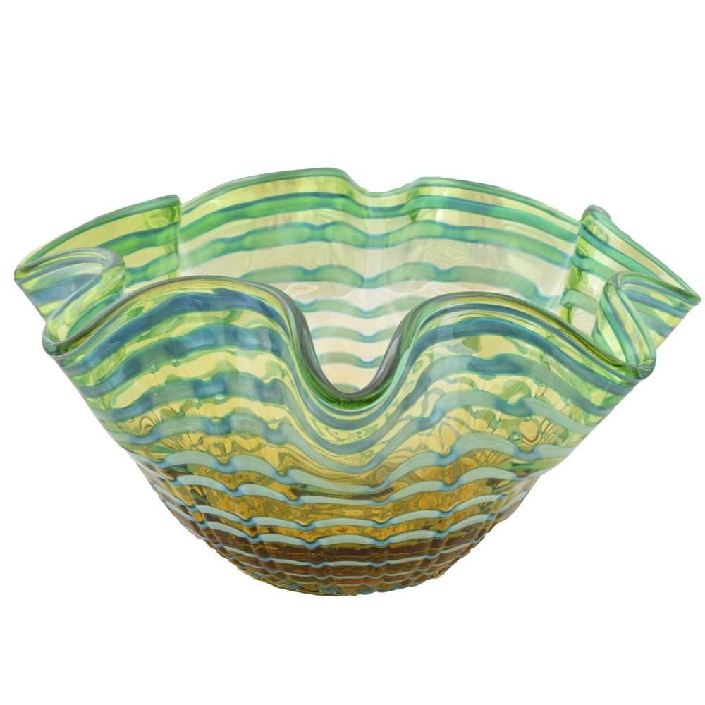 Murano Art Glass Centerpiece Bowl