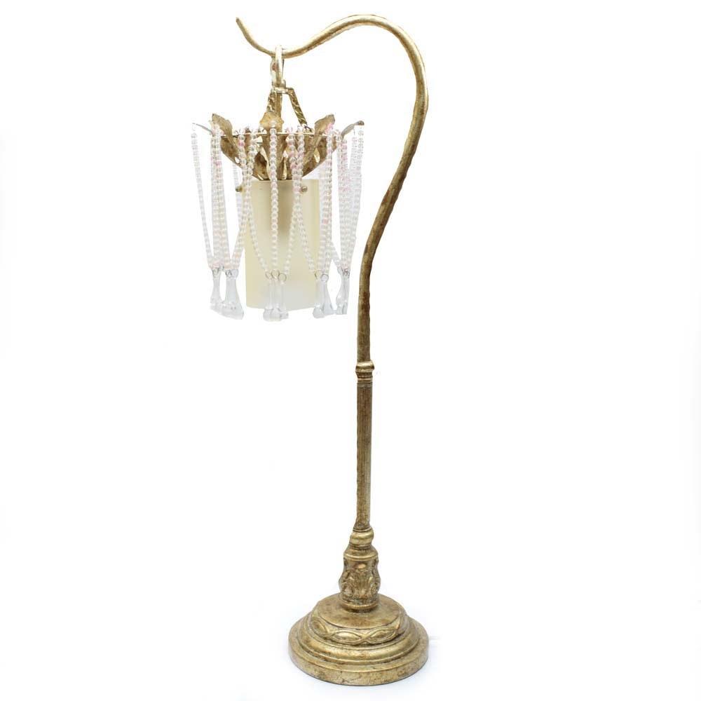 Silver Tone Accent Lamp