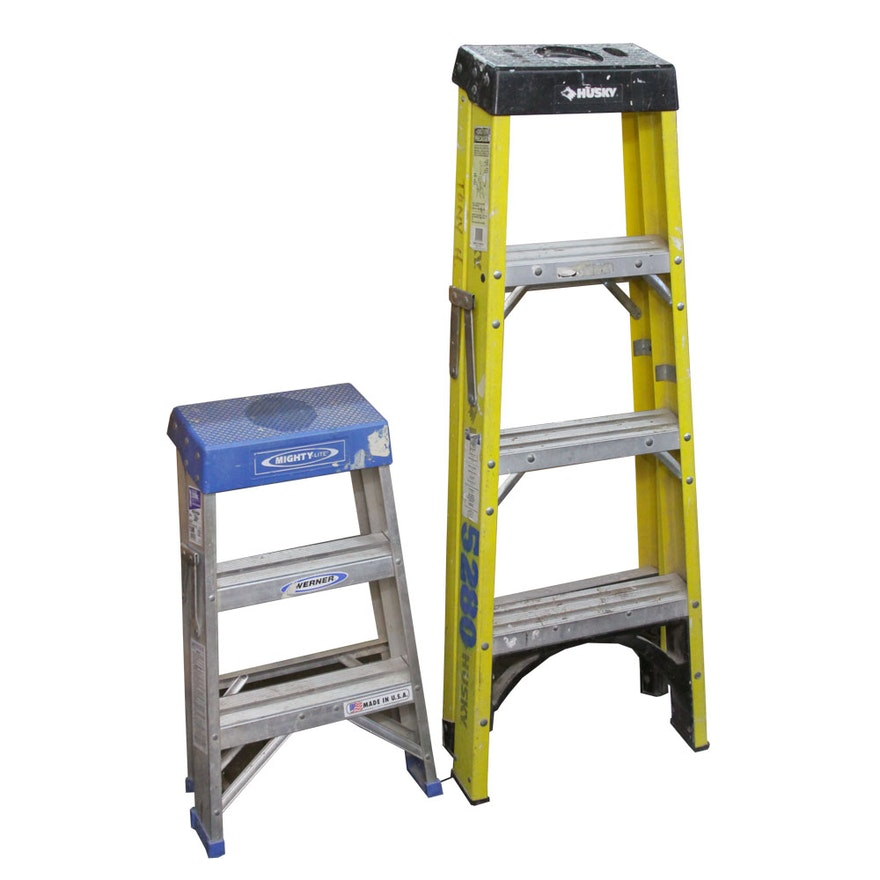Enjoyable Werner And Husky Folding Step Ladders Caraccident5 Cool Chair Designs And Ideas Caraccident5Info