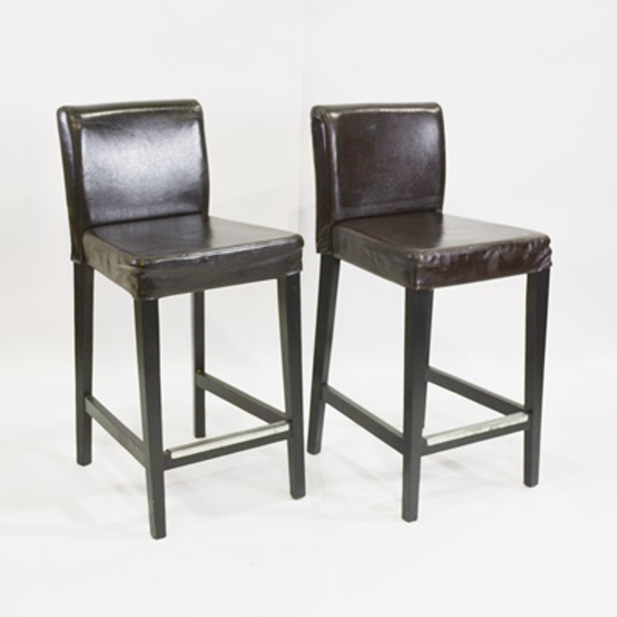 Fantastic Ikea Henriksdal Leather Counter Stools Machost Co Dining Chair Design Ideas Machostcouk