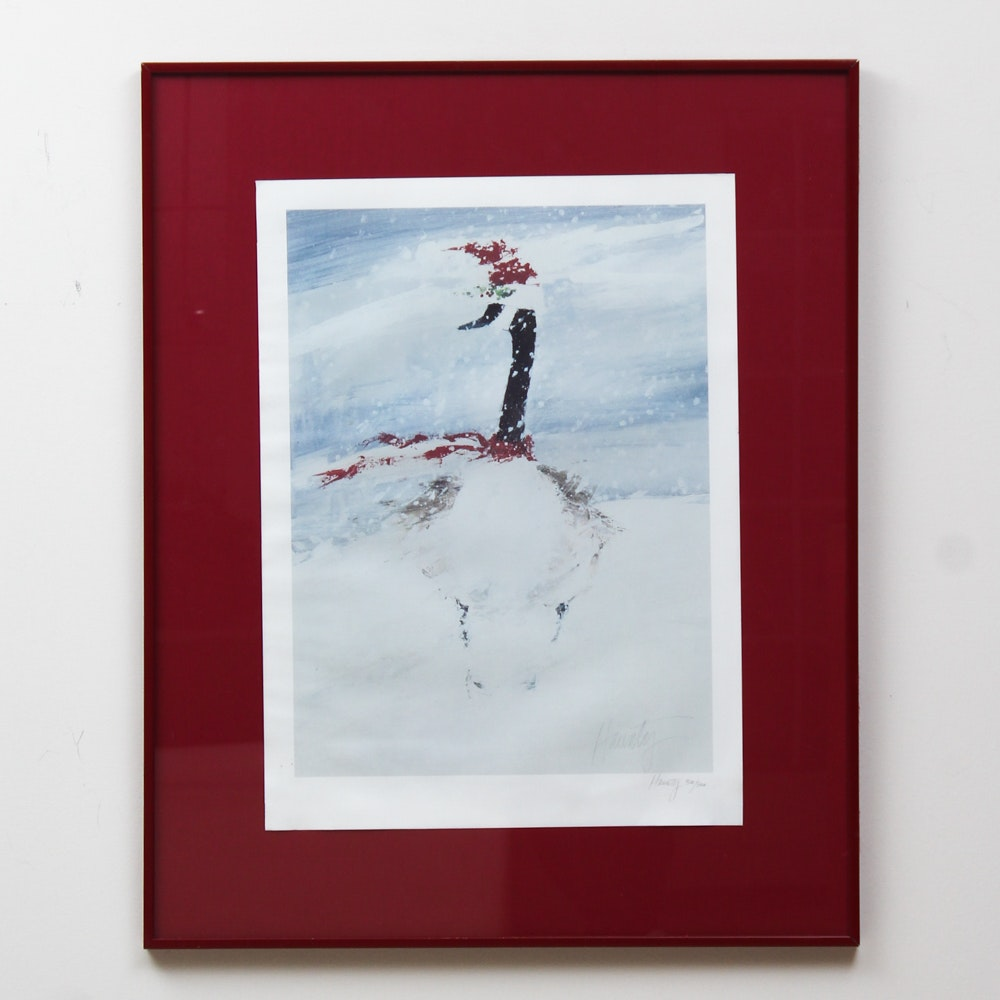 "Jack Haunty Limited Edition Offset Lithograph ""Christmas Goose"""