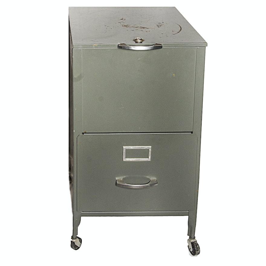 Vintage Metal File Cabinet ... - Vintage Metal File Cabinet : EBTH