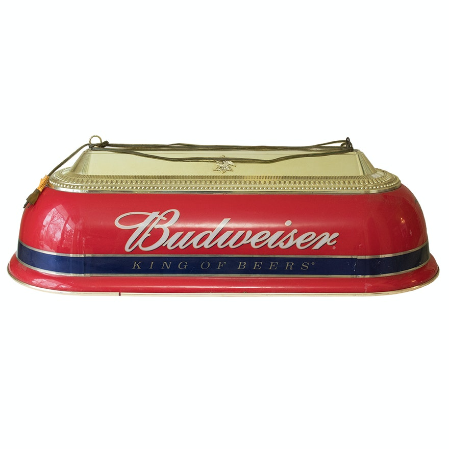 Budweiser King Of Beers Pool Table Light Ebth