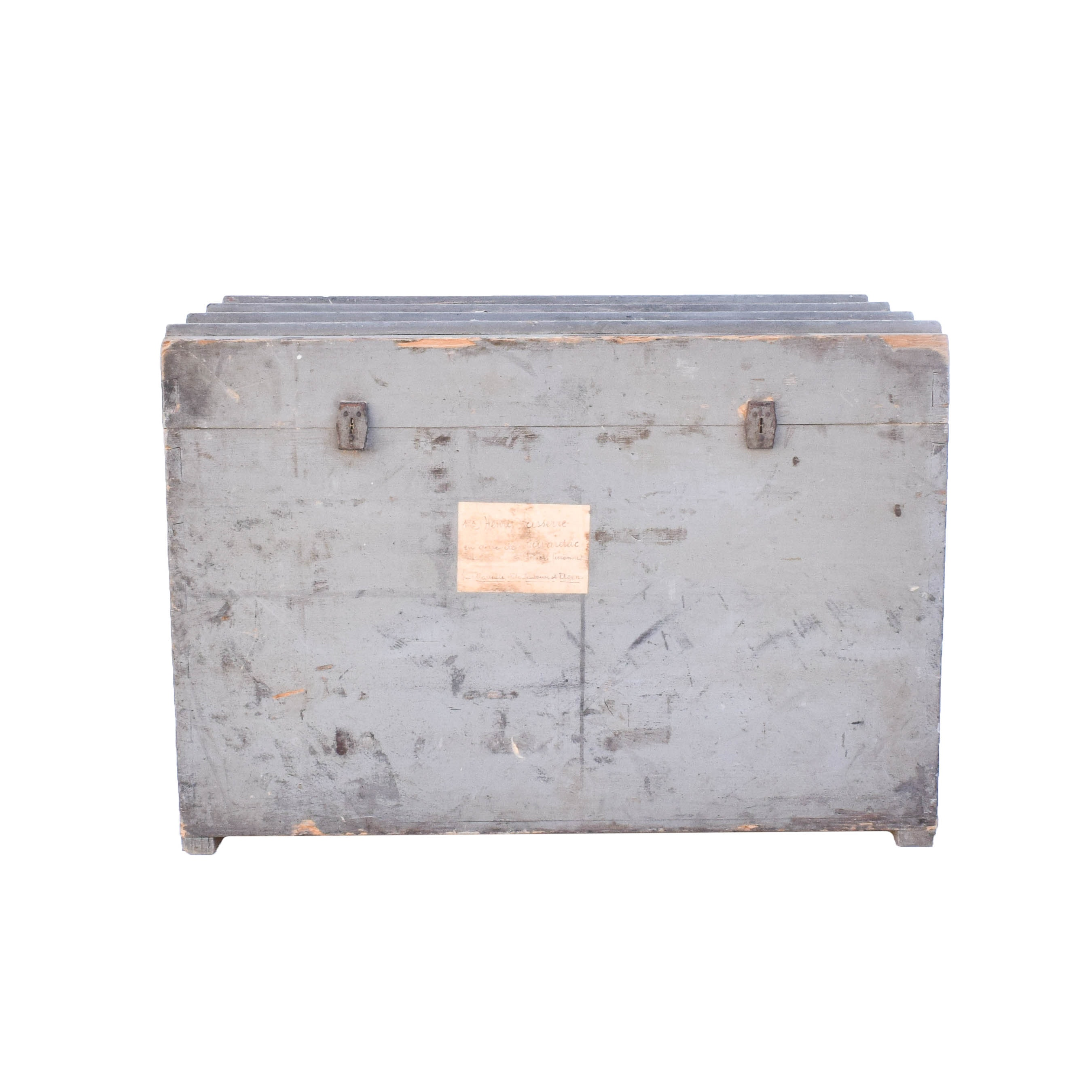 Antique French Colonial Steam Trunk