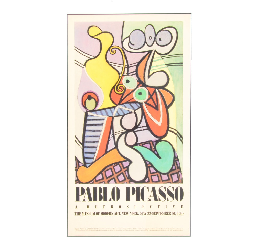 1980 Picasso Retrospective Exhibition Poster from MOMA