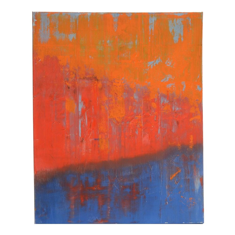 "Sarah Brown Original Abstract Oil Painting ""Morning Glory"""