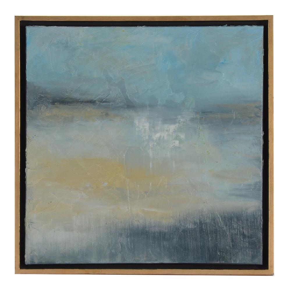 """Sarah Brown Original Abstract Oil Painting """"Storm"""""""