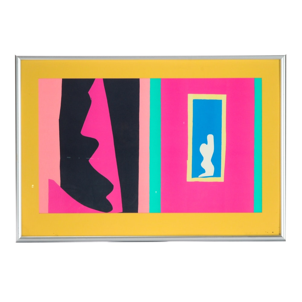 "Serigraph on Paper after Henri Matisse ""Le Destiny"""