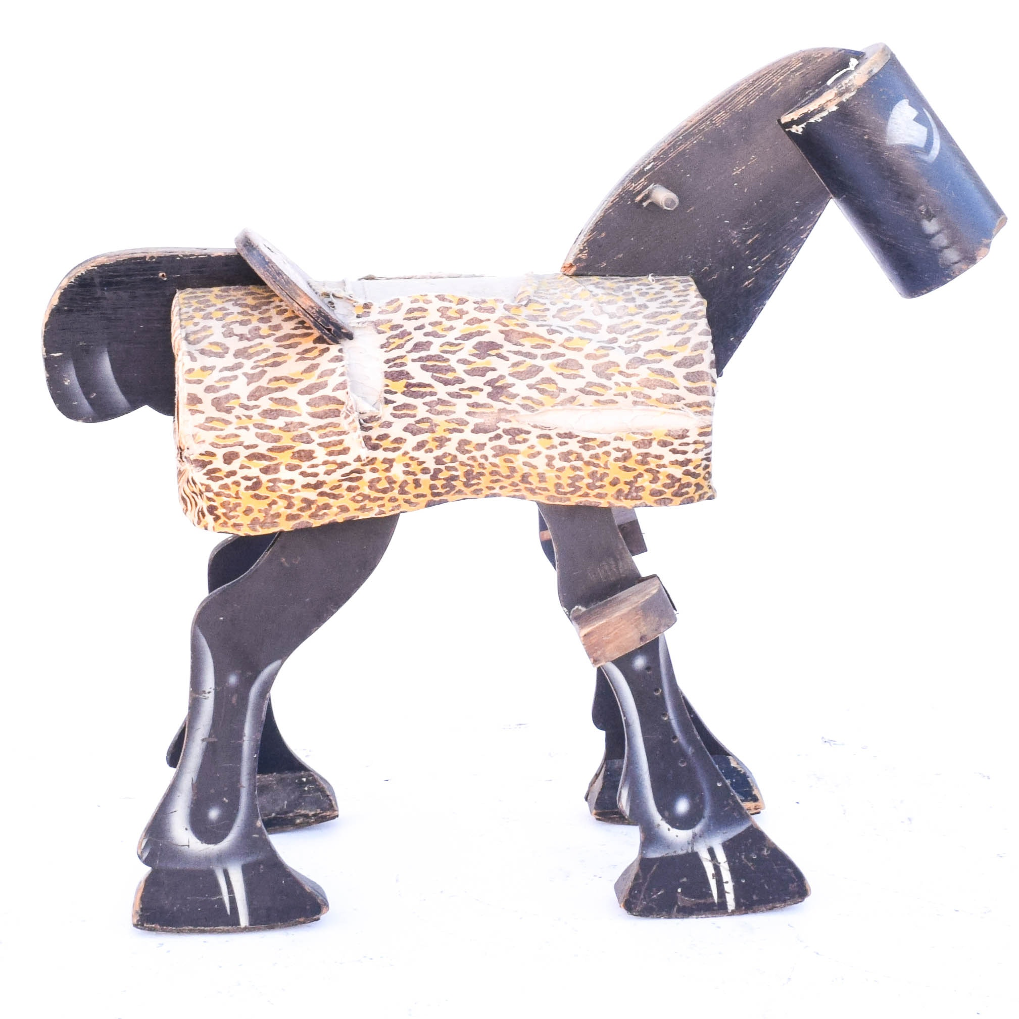 Vintage Wooden Horse Toy