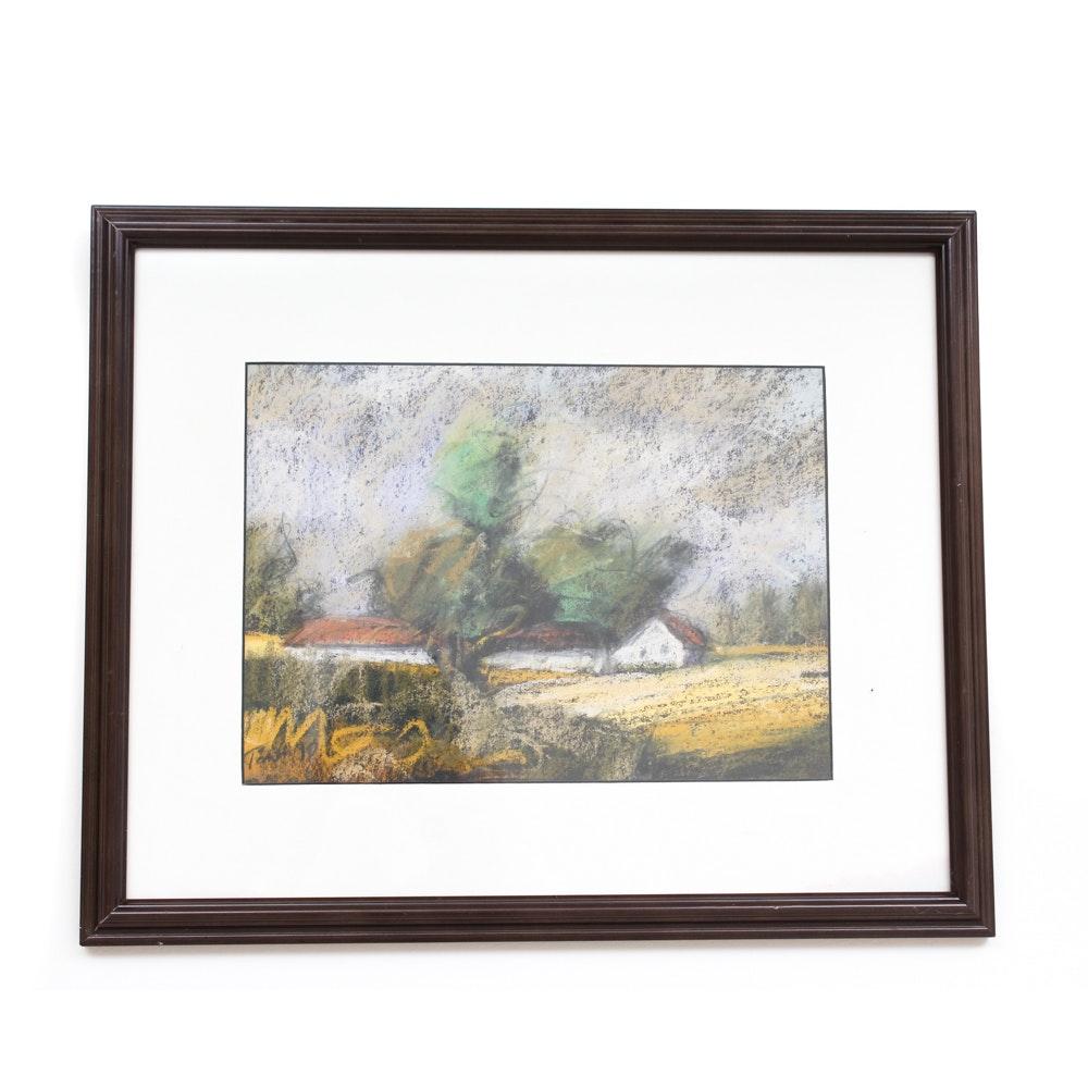 Istvan Torok Pastel Landscape