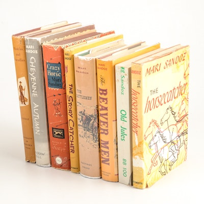 Group of Signed Mari Sandoz Books