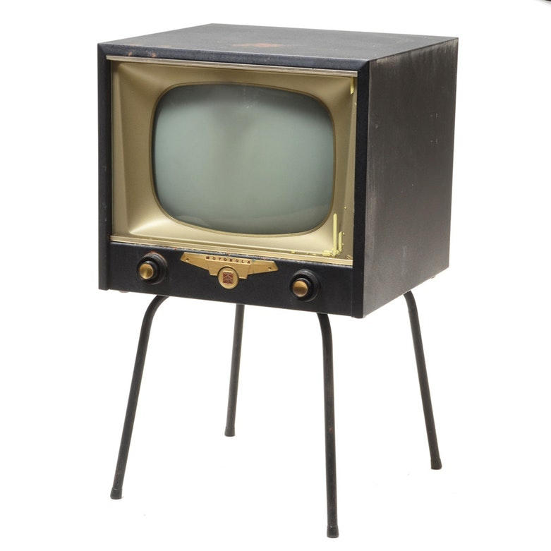 Vintage Motorola Television with Stand
