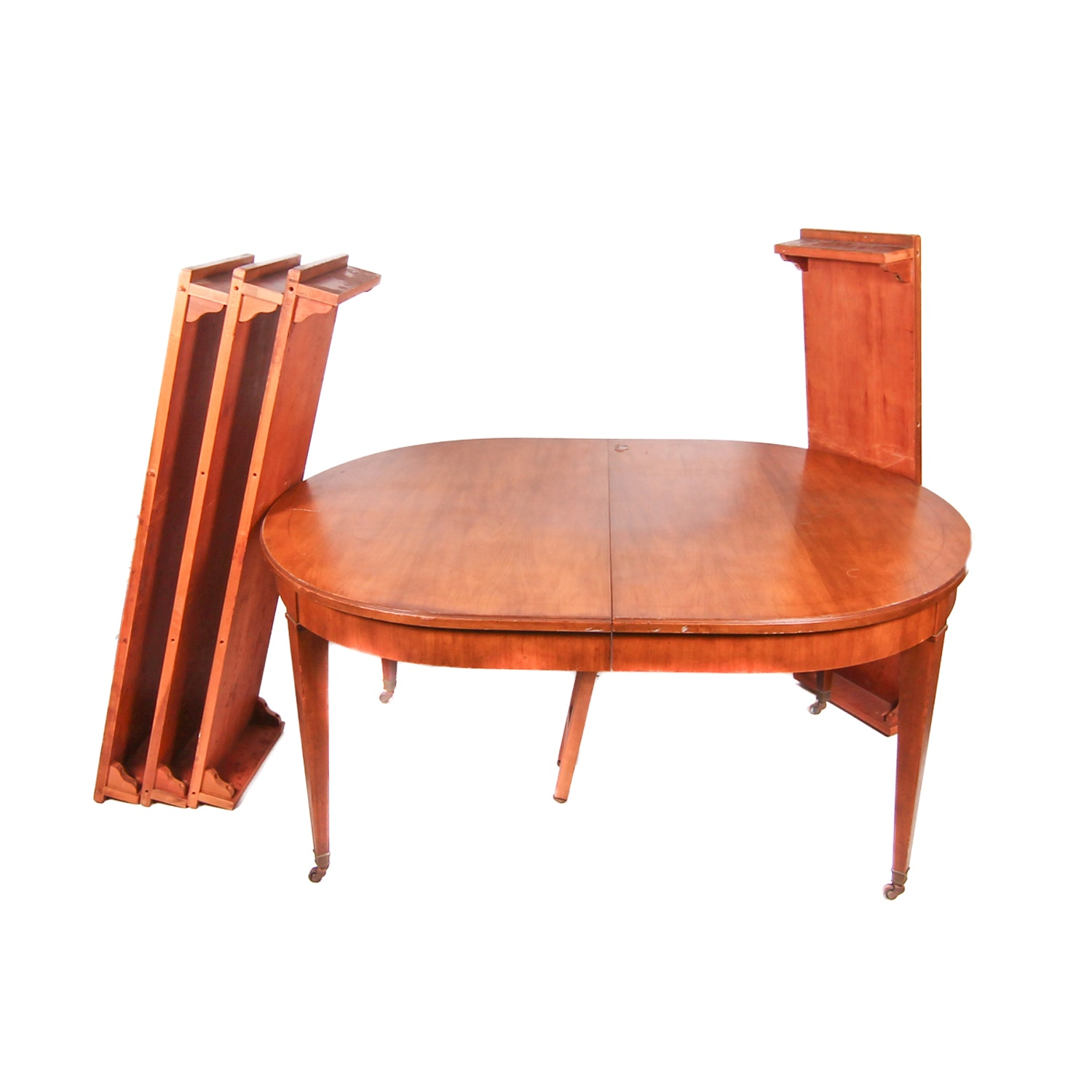 Traditional Style Oval Cherry Table