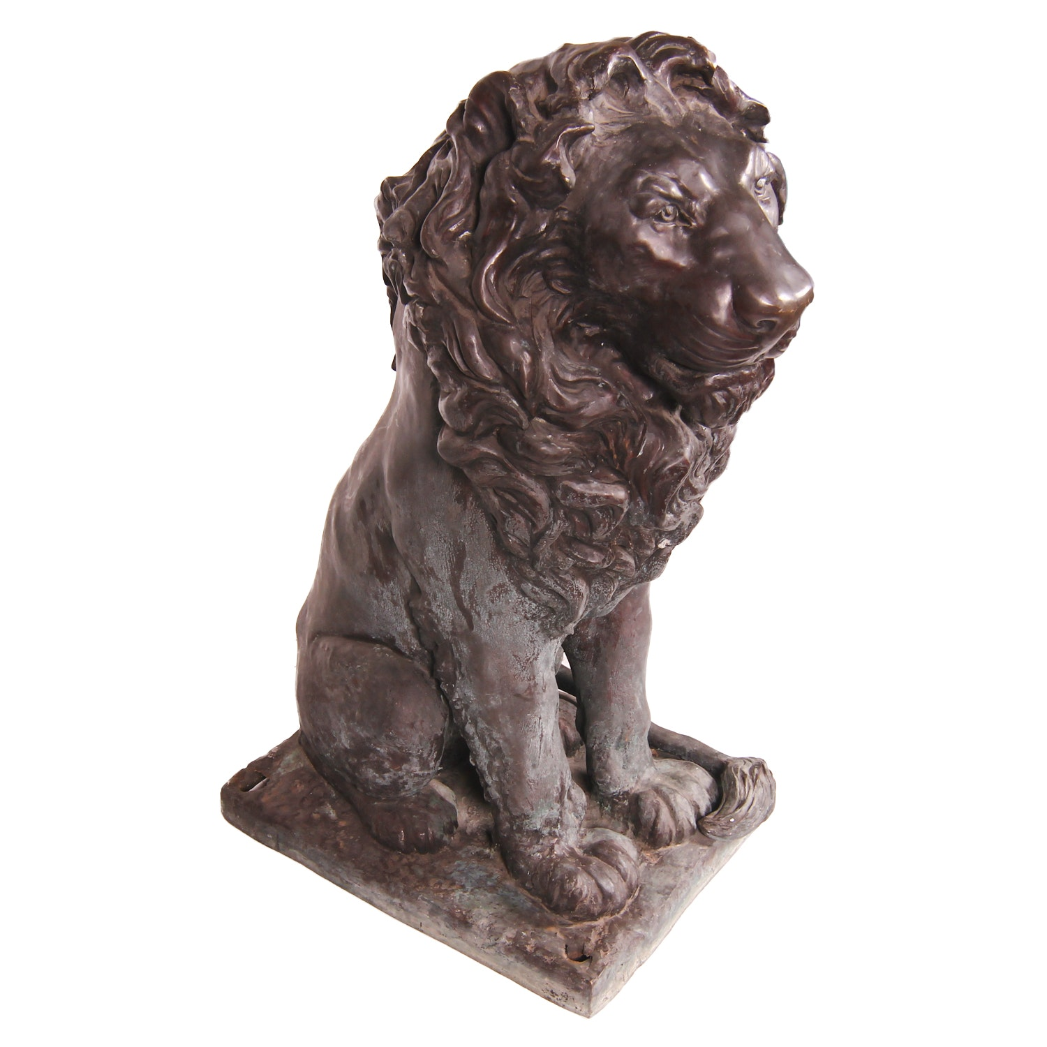 Large Outdoor Lion Statue with Left Side Tail
