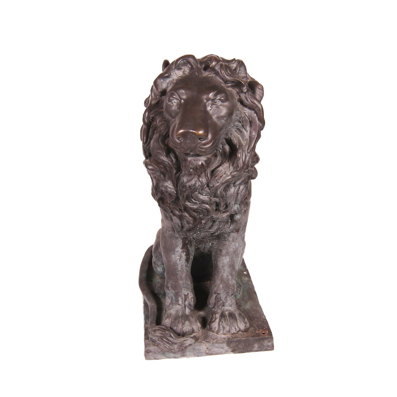 Large Outdoor Lion Statue with Right Side Tail