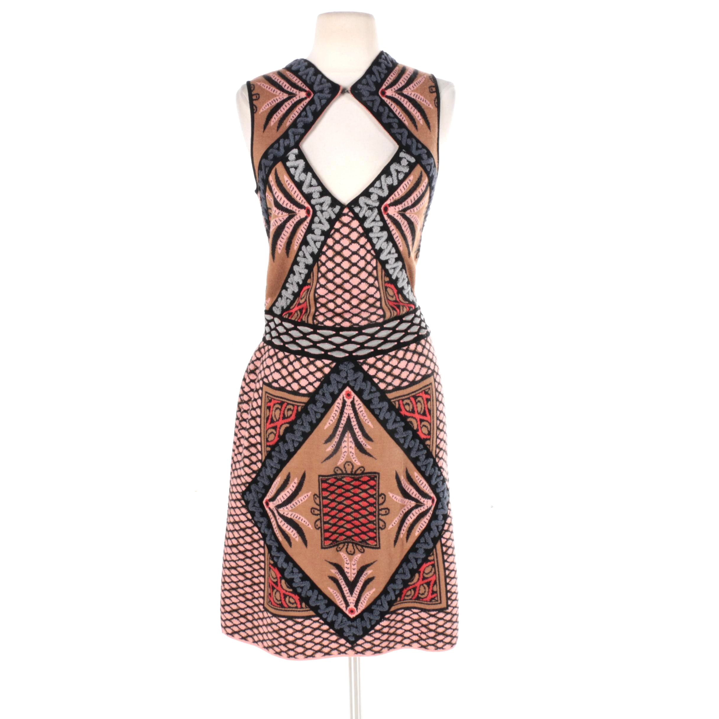 M Missoni Sleeveless Keyhole Dress
