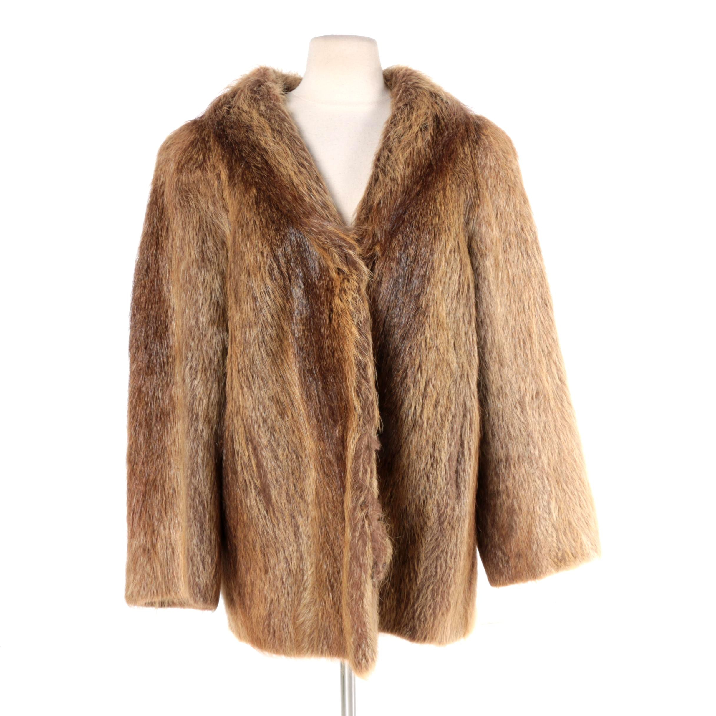 Women's Nutria Fur Coat