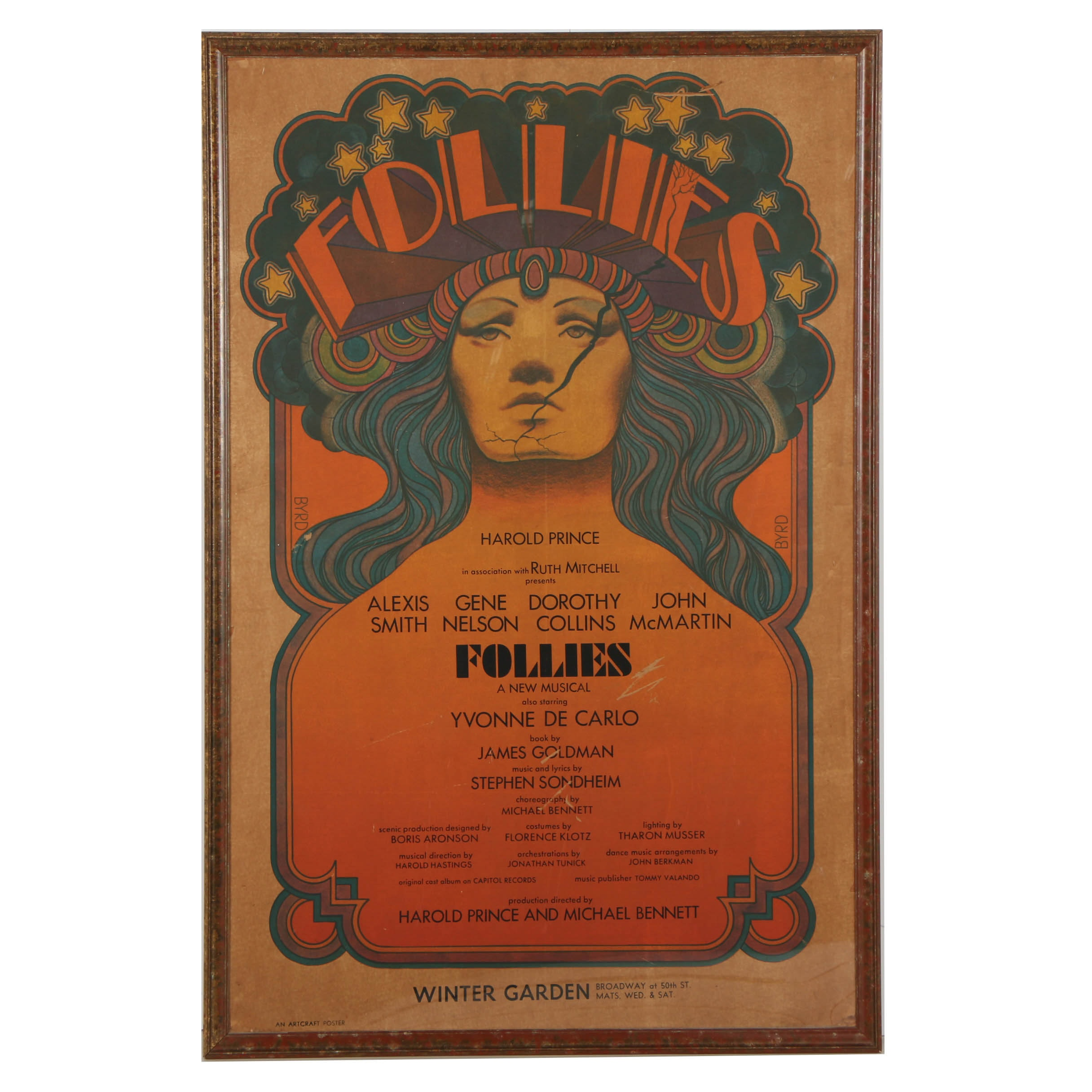 "Offset Lithograph on Paper ""Follies"" Broadway Poster"