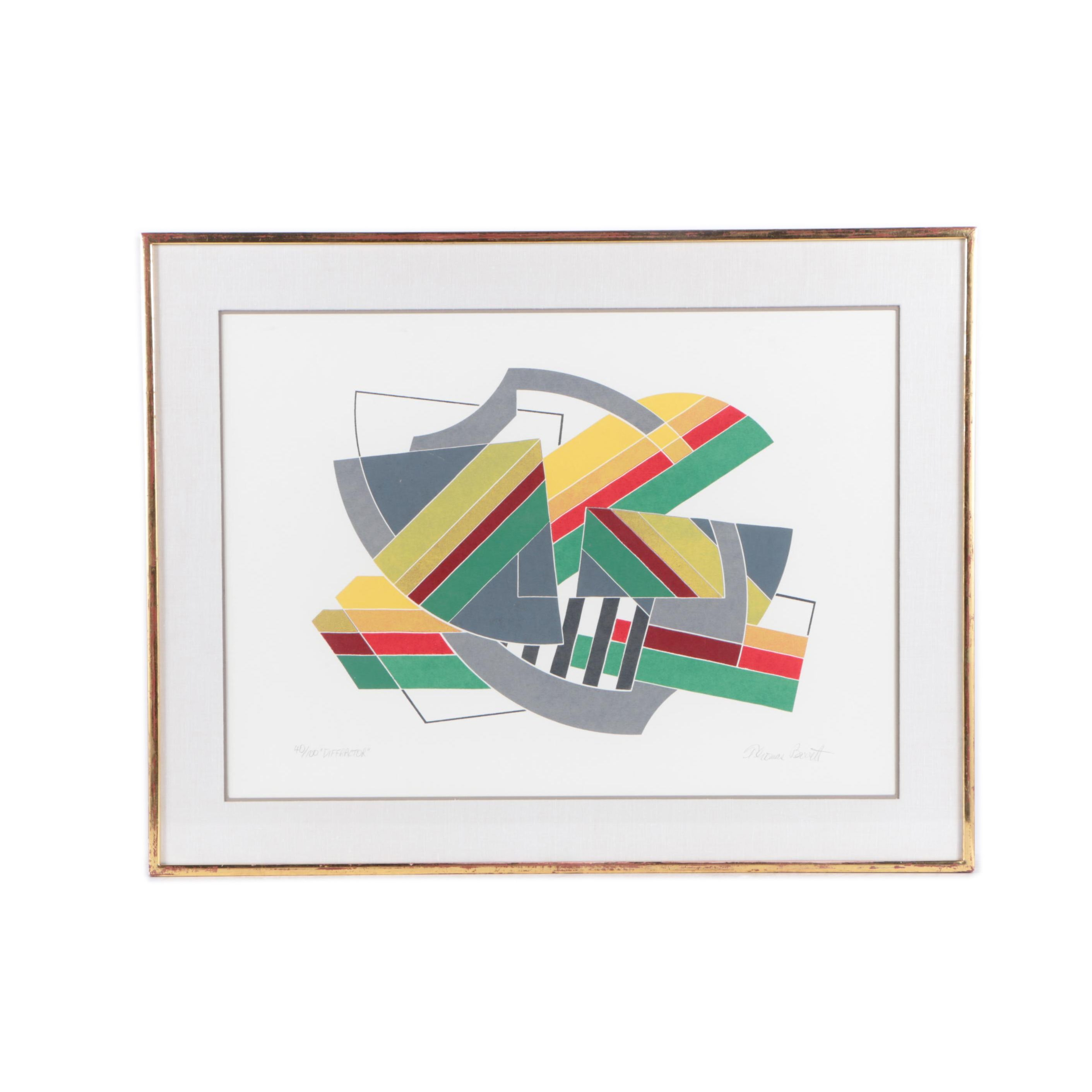 "Thomas Barrett Limited Edition Serigraph on Paper ""Diffractor"""