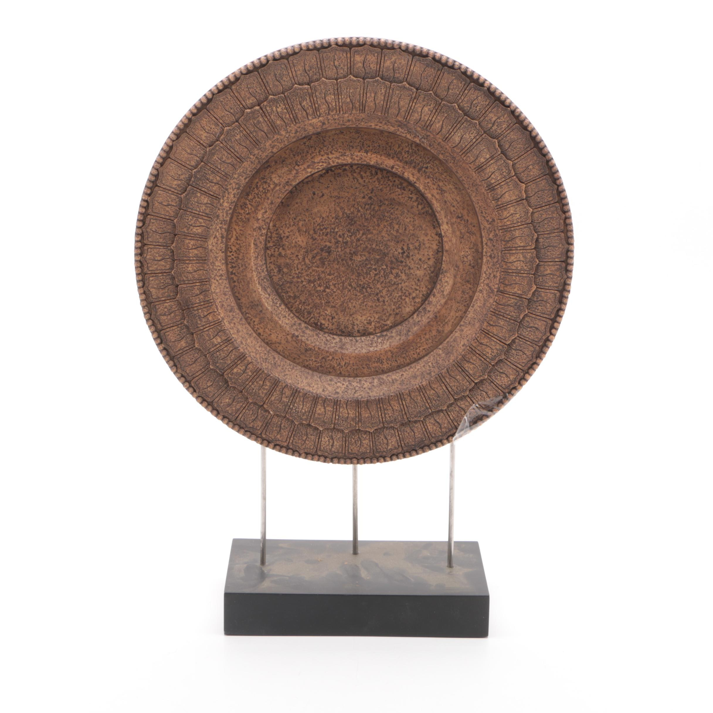 Decorative Round Plate on Stand