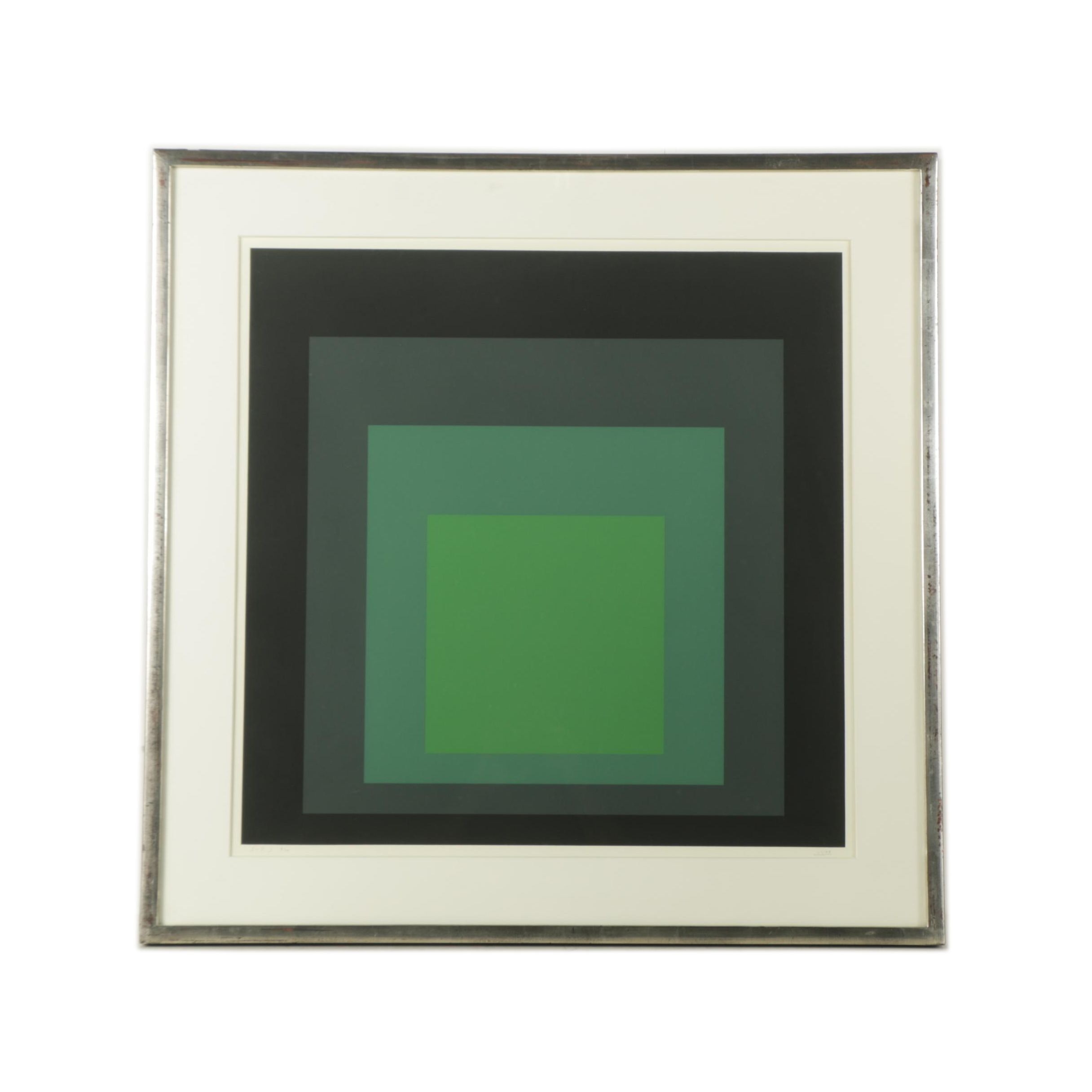 "Josef Albers Limited Edition Serigraph Print on Paper ""I-S j"""