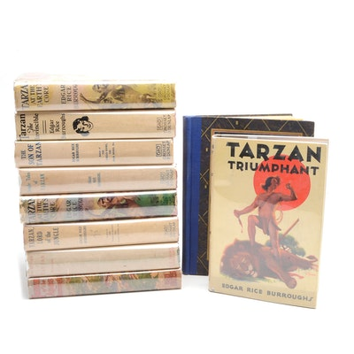 Group of Edgar Rice Burroughs Tarzan Novels