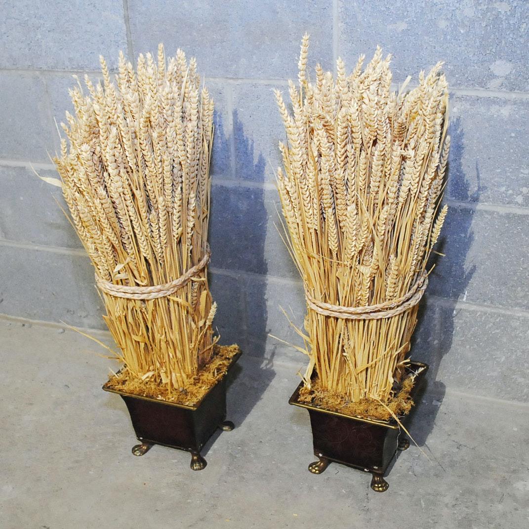 Faux Wheat Sheaves
