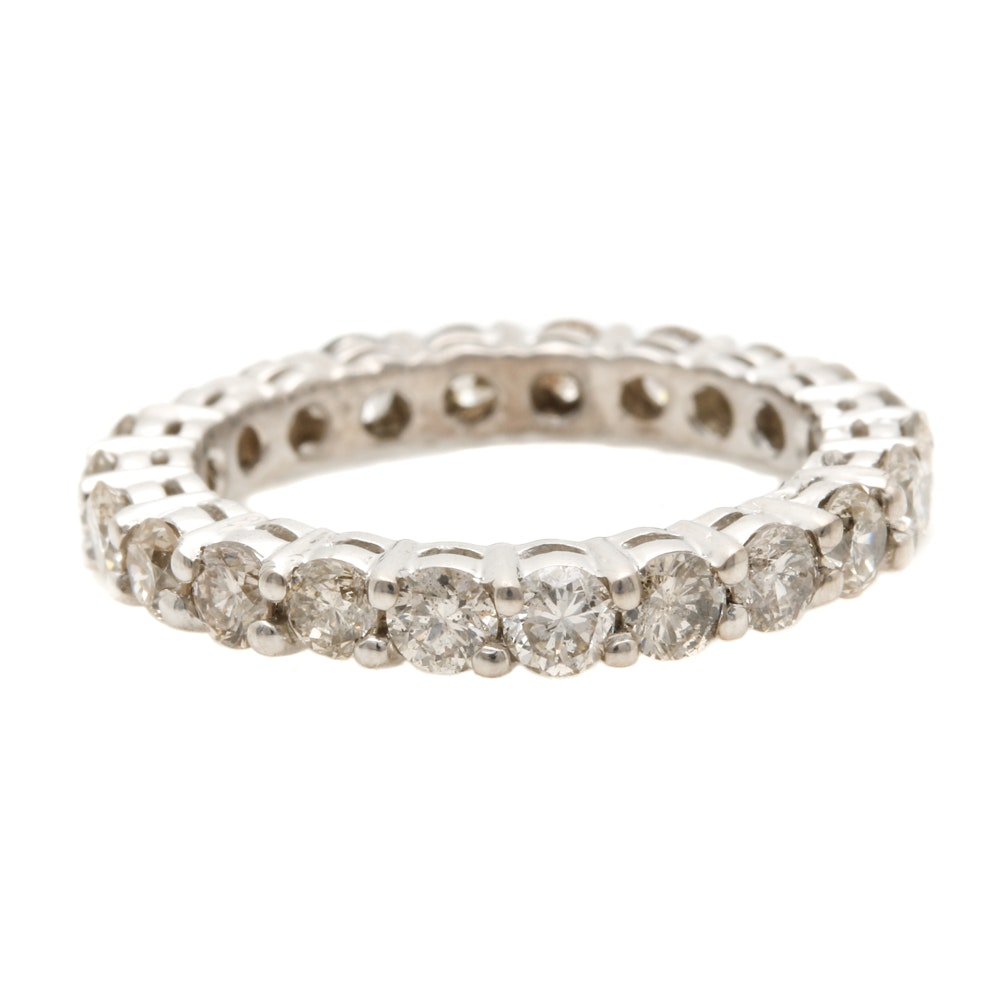 14K White Gold 1.50 CTW Diamond Eternity Band