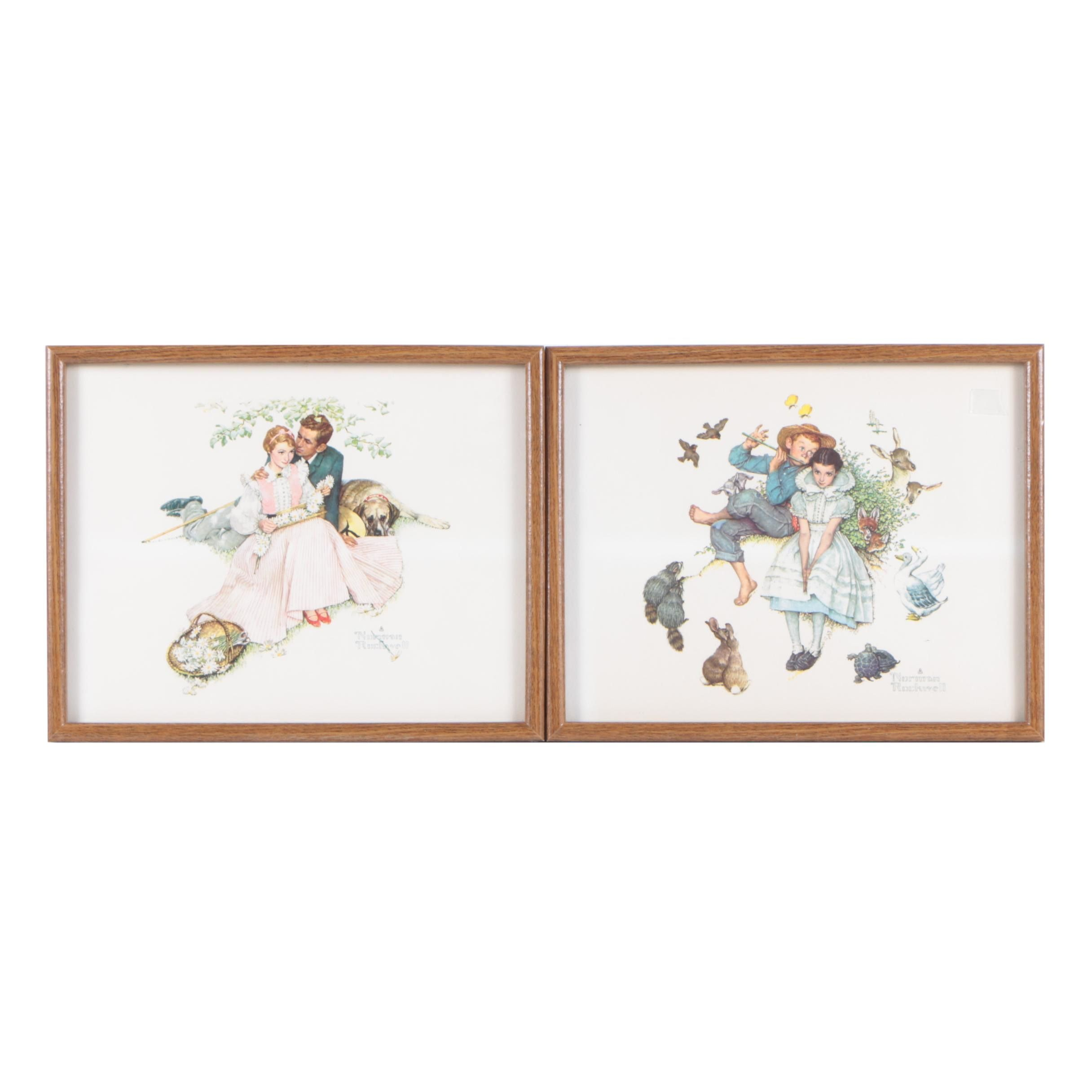 Offset Lithographs on Paper After Norman Rockwell of Couples