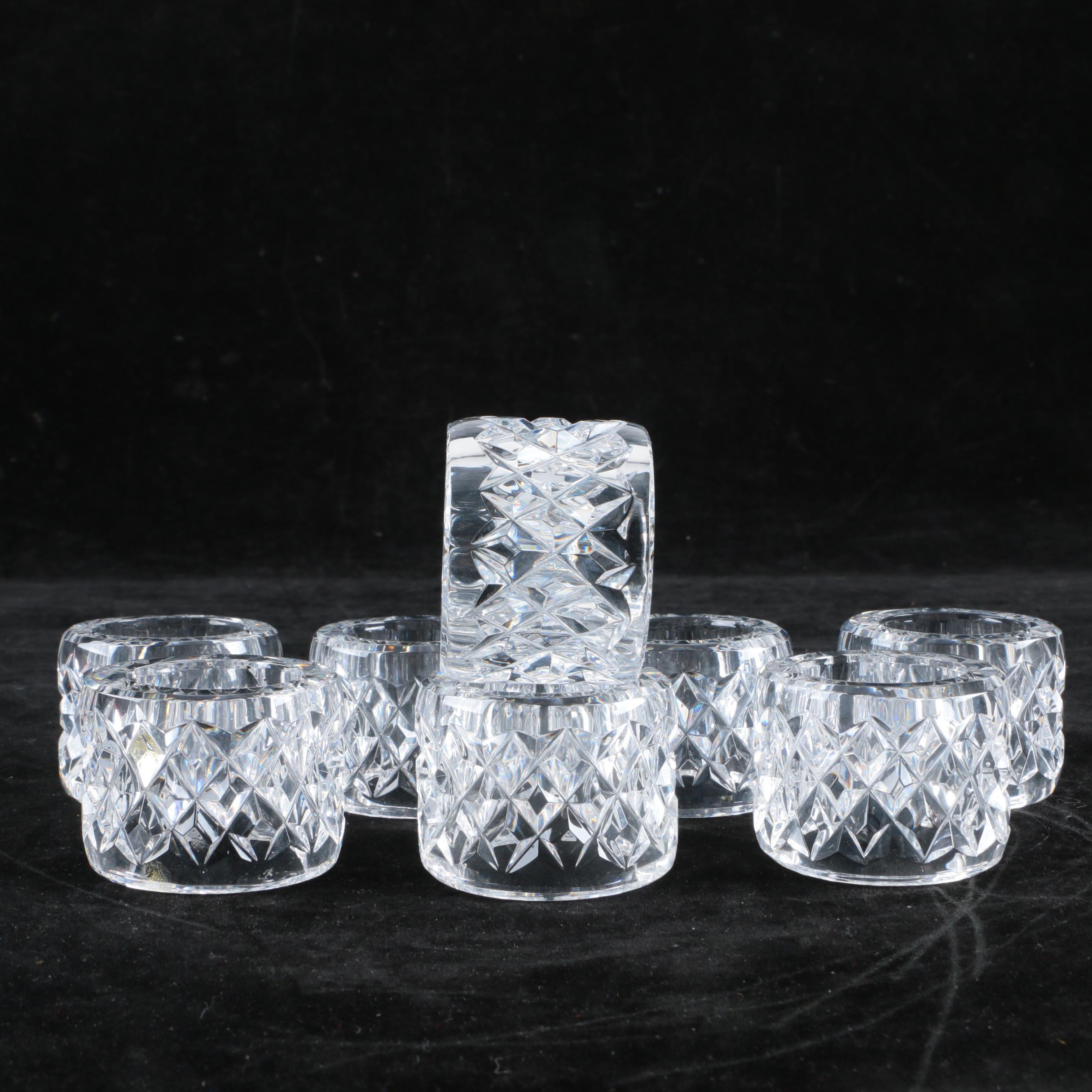 Bill Healy Crystal Napkin Rings