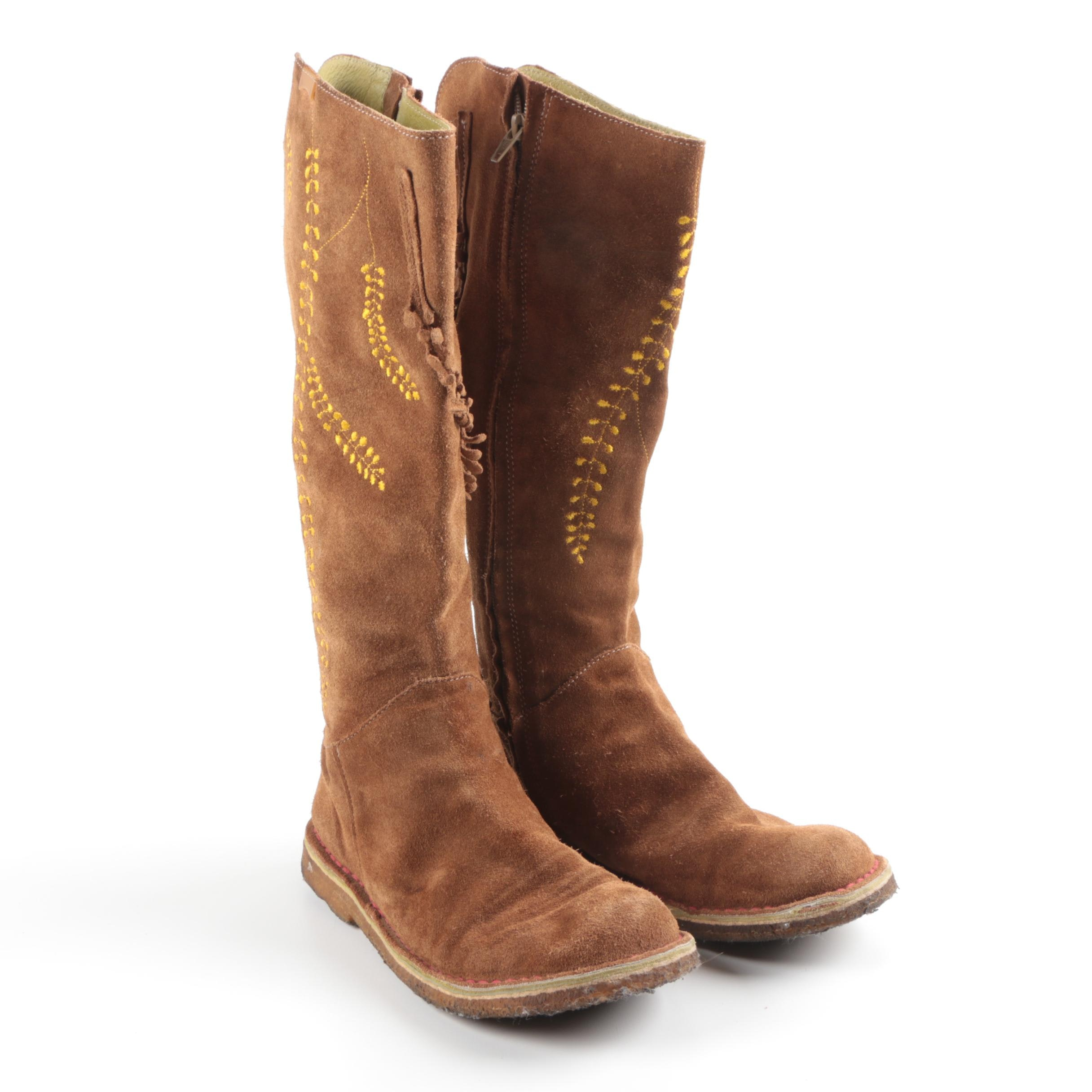 Women's 100% Camper Brown Suede Boots