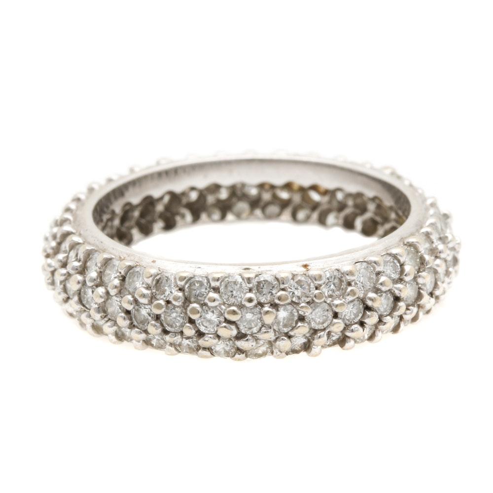 14K White Gold 1.48 CTW Diamond Ring Band