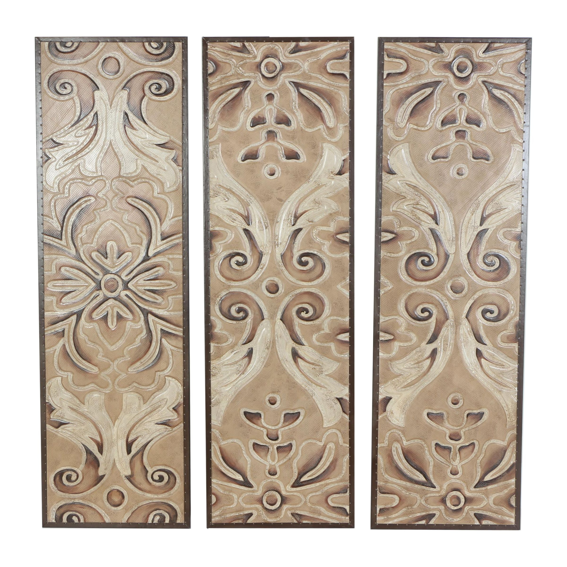 Painted Carved Wood Panels